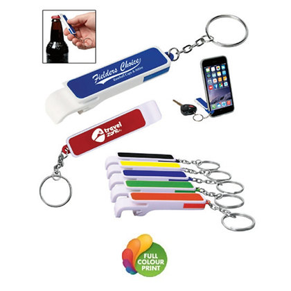 The Hefe Bottle Opener Keyring with Phone Stand