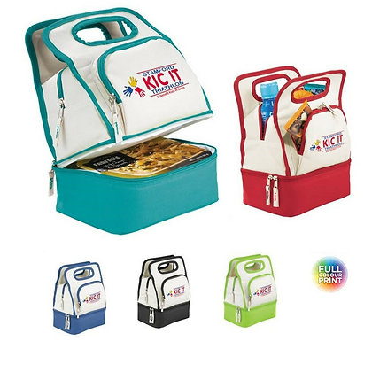 Colour Dip Dual Compartment Lunch Cooler