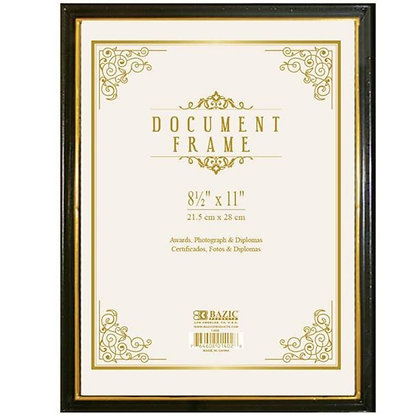 "8.5"" x 11"" Document Frame with Gold Border"