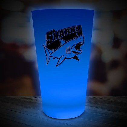 Blue LED Pint Glass