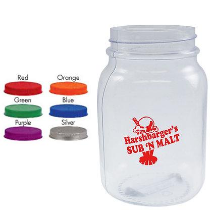 26oz Square Blow Molded Mason Jar