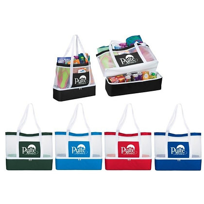 Mesh Outdoor 12-Can Cooler Tote