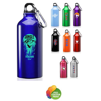 20oz. Aluminum Water Bottles with Carabiner