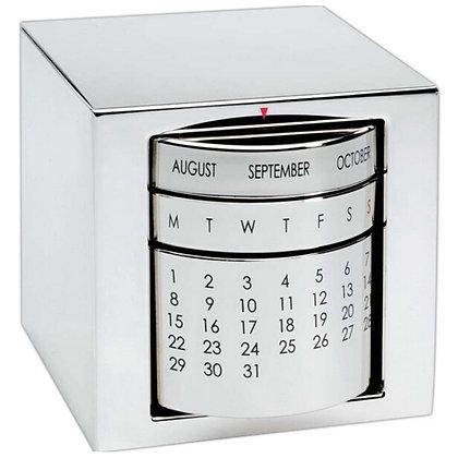 Executive Perpetual Calendar, Cube, Silver