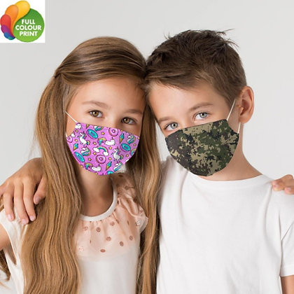 Full Graphic Reusable Child Face Mask