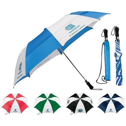 "58"" Vented Auto Open Folding Golf Umbrella"