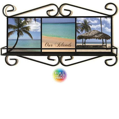 Wrought Iron Frame with Shelf & Sublimation Tiles