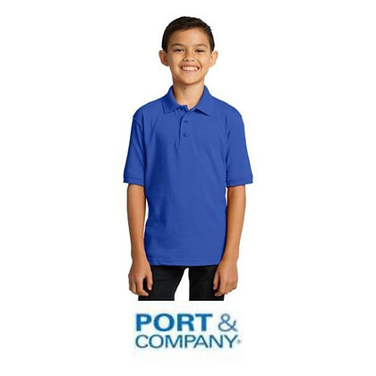 Port & Company® Youth Core Blend Jersey Knit Polo