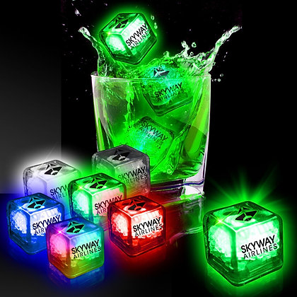 Imprinted Liquid Activated Light Up Ice Cubes - Variety of Colours
