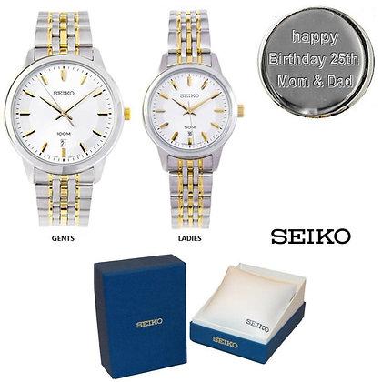 Gent's & Ladies Seiko Watch