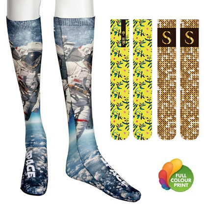 Medium Tube Calf High Logo Socks Full Surface by Sublimation