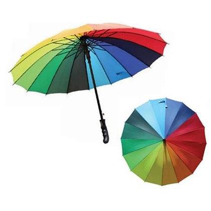Rainbow Umbrella with Rubberized Handle