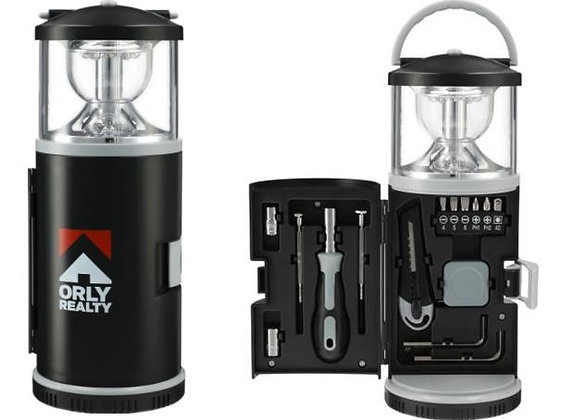 15 Piece Tool Kit with Multi-Function Lantern