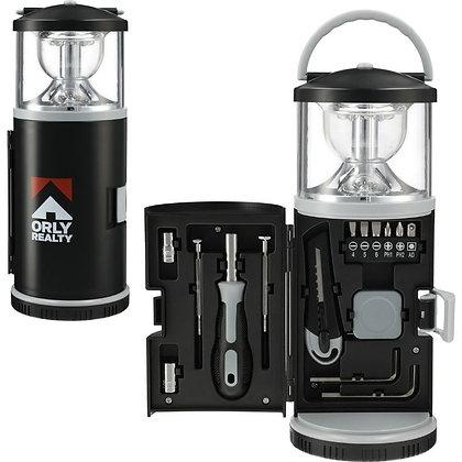 15 Piece Tool Kit with Multi-Function Lantern