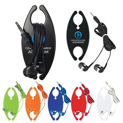 Earbuds with Cord Organizer
