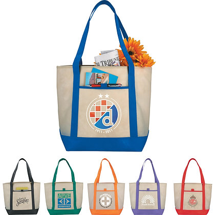 Lighthouse Non-Woven Boat Tote