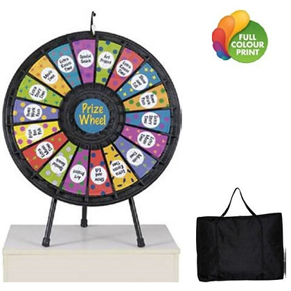 "18 Slot Table Top 31"" Prize Wheel with Travel Bag"