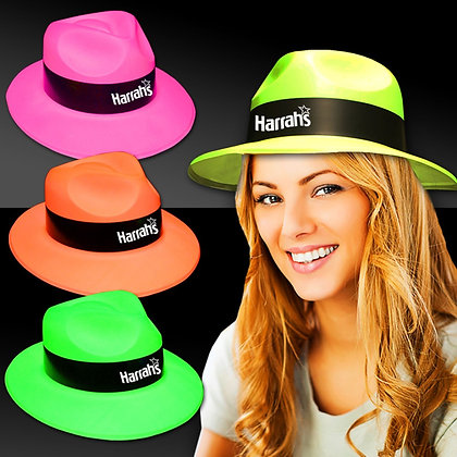 Assorted Colour Plastic Fedoras