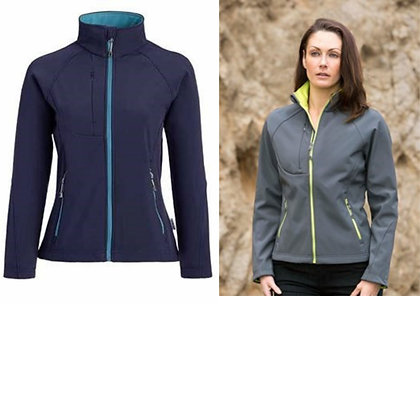 New Ladies' Matrix Sp Soft Shell Jacket With Contrast Zip