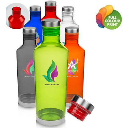 27oz Plastic Water Bottles with Metal Accent
