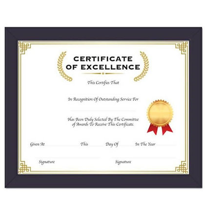 "11""x14"" Multipurpose Certificate Frame with Glass Cover"