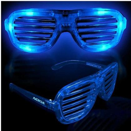Blue LED Slotted Glasses
