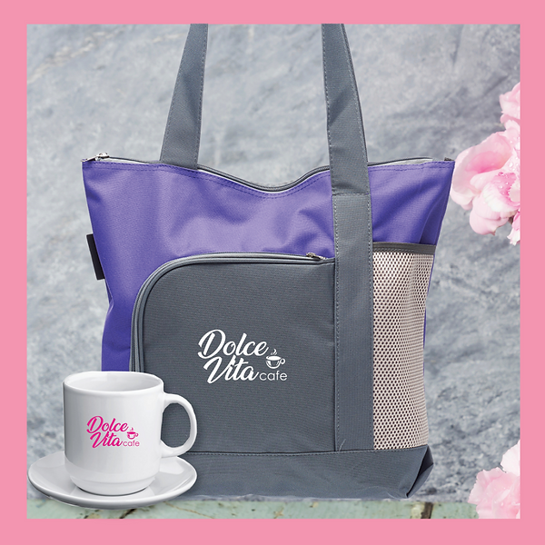 Go Getter Tote Bag and White Coffee Cup