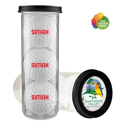 Three Ball Value Golf Gift Tube