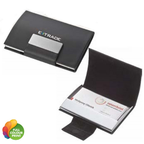 Business card holder for stylish storage of your business cards the case is upholstered with high quality artificial leather and provides a magnetic closure reheart Image collections