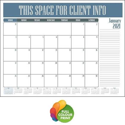 2020 Monthly Desk Planner