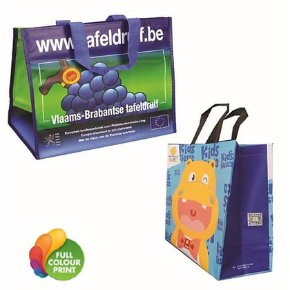 Large Matte Laminated Shopper Tote Bag