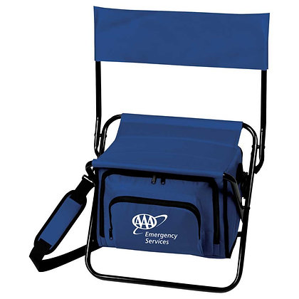 Folding Insulated 12-Can Cooler Chair