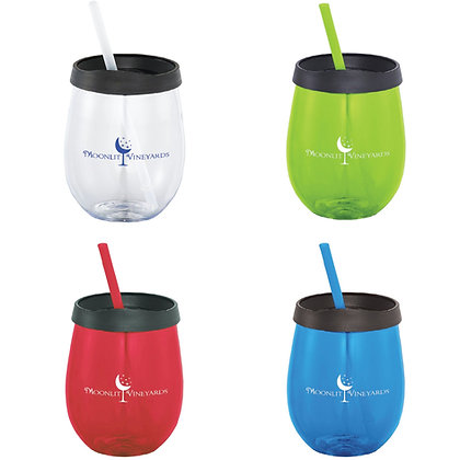 Stemless Tumbler With Straw