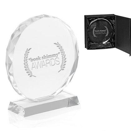 Round Edge Branded Crystal Awards