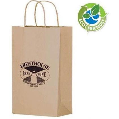 Natural Kraft Wine Bottle Bag
