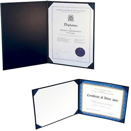 "8½"" x 11"" White 15 PT. Board Liner Deluxe Saver Certificate Holder"