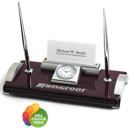 Clock, Business Card Holder & Pen Stand