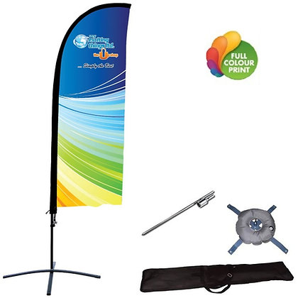 11ft or 13ft Feather Outdoor Banner with Base & Ground Stake