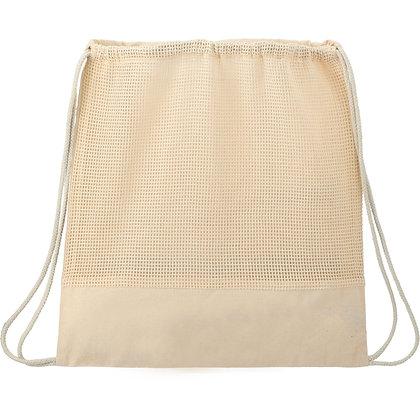 Cotton Mesh Drawstring Bag