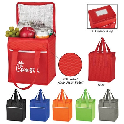 Wave Design Non Woven Cooler Lunch Bag