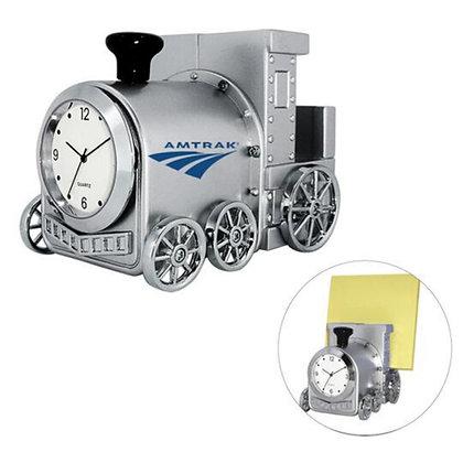 Train Clock Memo/Card Holder