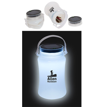 Foldable Waterproof Container with Solar Light