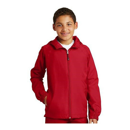Sport-Tek® Youth Hooded Raglan Jacket