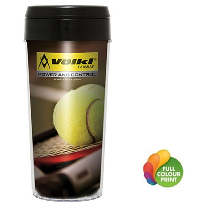 16oz Elite Insert Tumbler with Black Plastic Lid