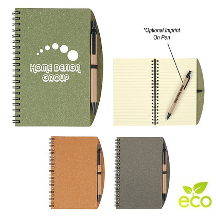 Eco Inspired Spiral Notebook & Pen