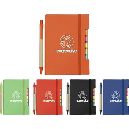 Recycled Sticky Notebook With Pen