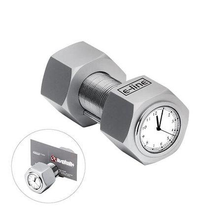 Metal Nut & Bolt Clock with Card Holder