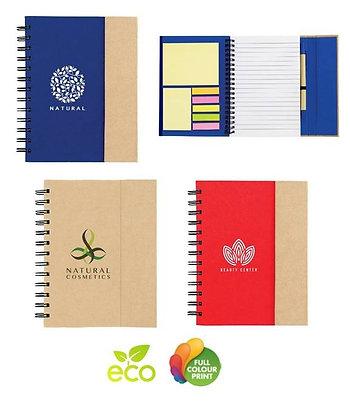Eco Spiral Sticky Notebook