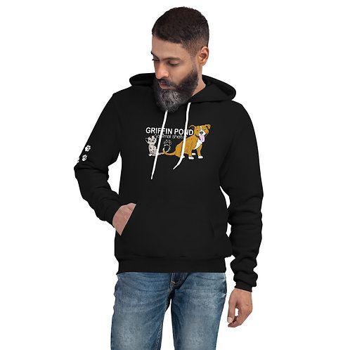 Griffin Pond Cats & Dogs Unisex Hoodie w/ Paws