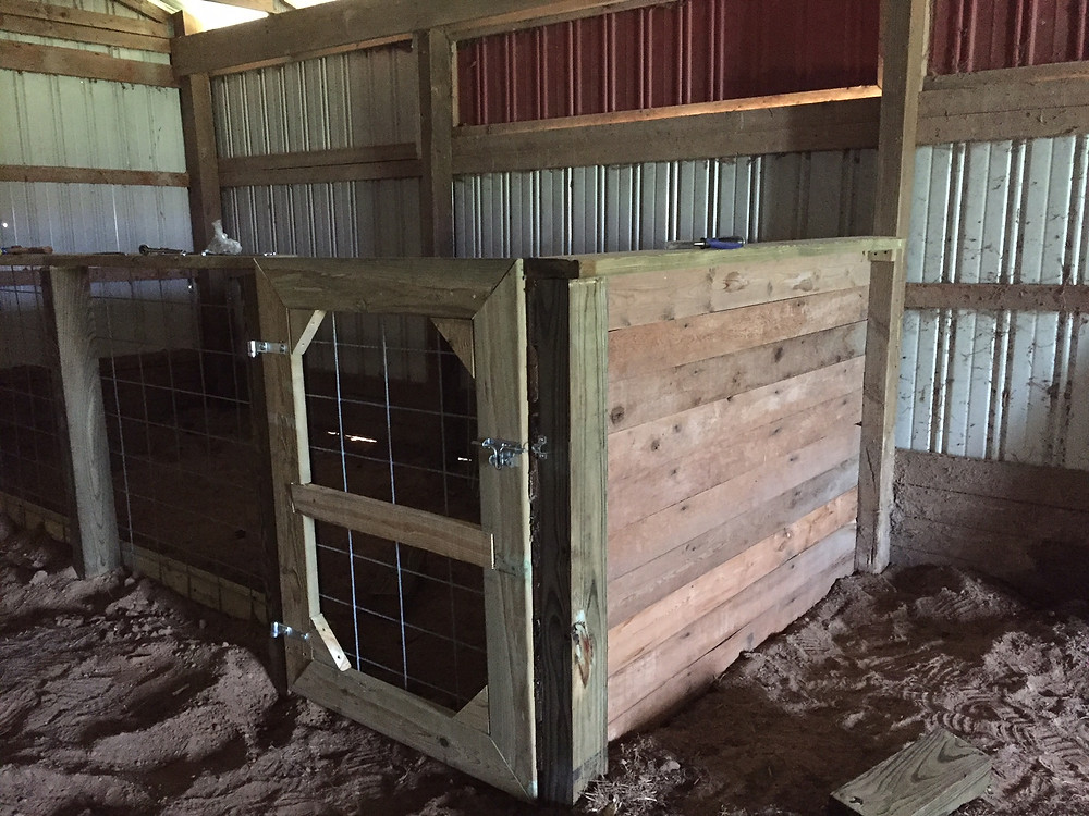 Handcrafted goat pen